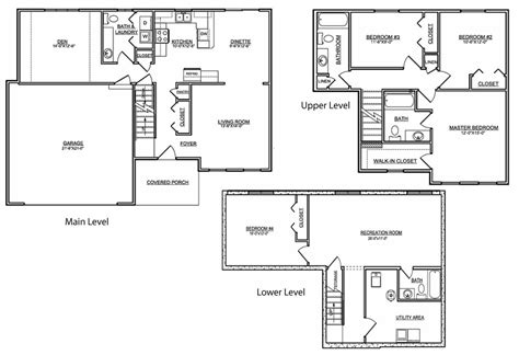 Tri Level Home Plans Tri Level House Floor Plans 20 Photo Gallery House Plans 61343