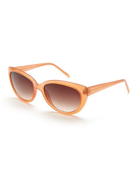 Cat Eye Rafflesia Orange lyst vince camuto vc120 orange cat eye sunglasses in orange