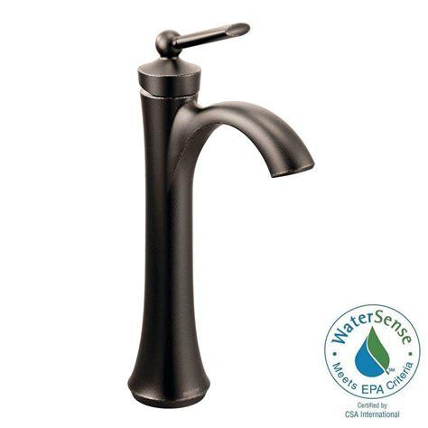 single hole bathroom faucet oil rubbed bronze moen wynford single hole single handle vessel bathroom
