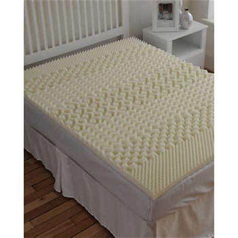 foam bed pad sleepbetter isotonic 174 7 zone 2 quot memory foam mattress topper