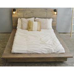Floating Wood Platform Bed Frame With Lighted Headboard Floating Bed Frame For Sale