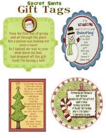 secret santa label template 8 best images of secret santa gift tags printable