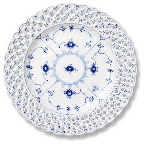 Royal Copenhagen Geschirr by Royal Copenhagen Blue Fluted Lace Pierced Plate