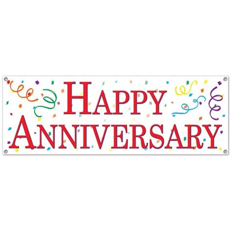 Happy Anniversary Sign Banner Partycheap Happy Anniversary Banner Template