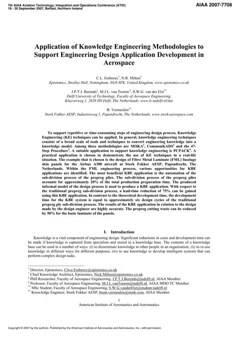 design application publication application of knowledge engineering methodologies to