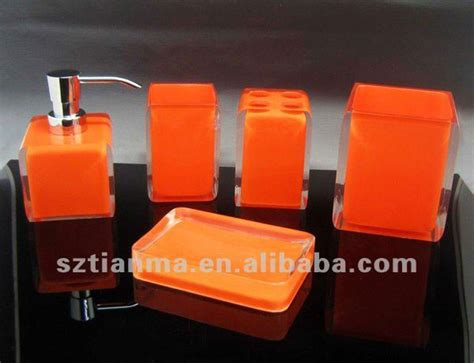 orange bathroom accessories set acrylic resin orange bathroom accessories sets buy orange bathroom accessories funny