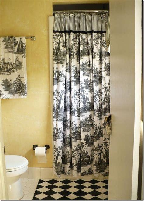 black master bathroom black and white toile master bathroom my nest pinterest