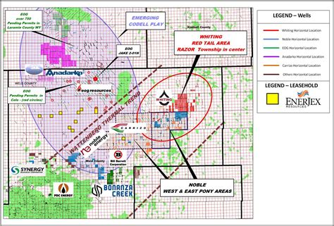 colorado and gas map enerjex resources inc