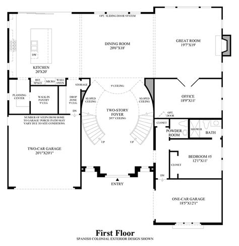 Robertson 100 Floor Plan by Toll Brothers At Robertson Ranch The Bluffs The