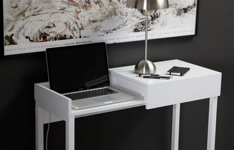 Laptop Desk With Storage Modern Desk Featuring Secret Storage For Laptop Users Home Building Furniture And