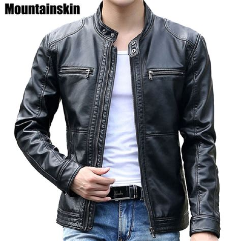 motocross leather jacket men s leather jackets men stand collar coats motorcycle