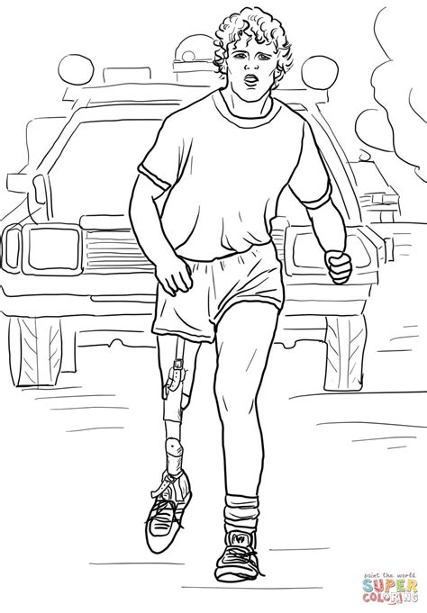 terry fox run coloring page free printable coloring pages