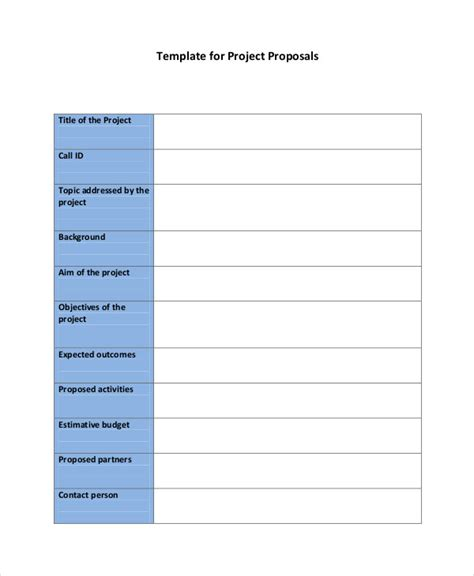 proposal format in pdf 44 project proposal exles pdf word