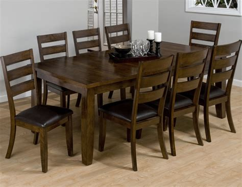 9 piece dining room set jofran 337 tyler brown cherry 9 piece rectangular dining