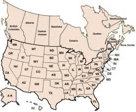 blank map of usa and canada