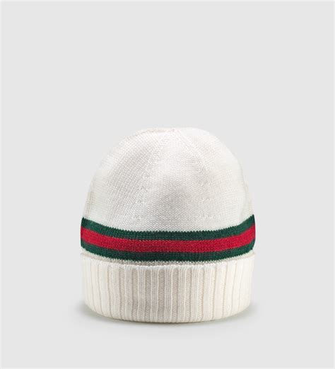 gucci knit hat gucci classic band knitted beanie s l in white for lyst