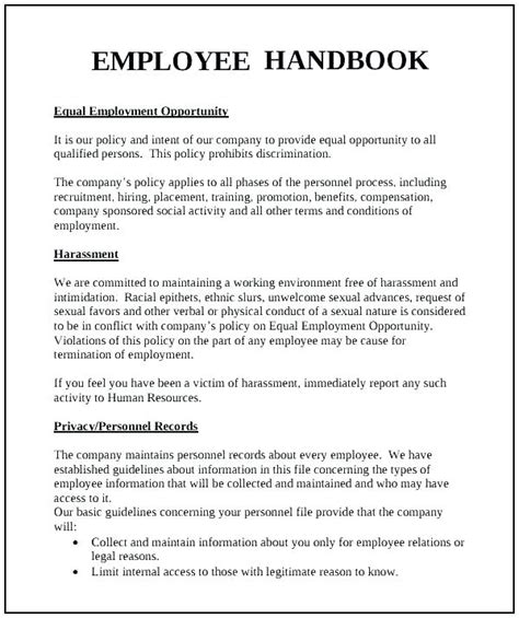 Training Policy Template Handbook Travel Policy For Employees Template Free Human Resources Personal Cancellation Policy Template