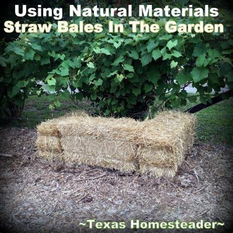 adding organic matter using straw in the garden