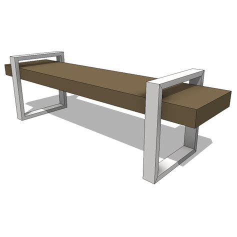 gus modern return bench seating revit families modern revit furniture models