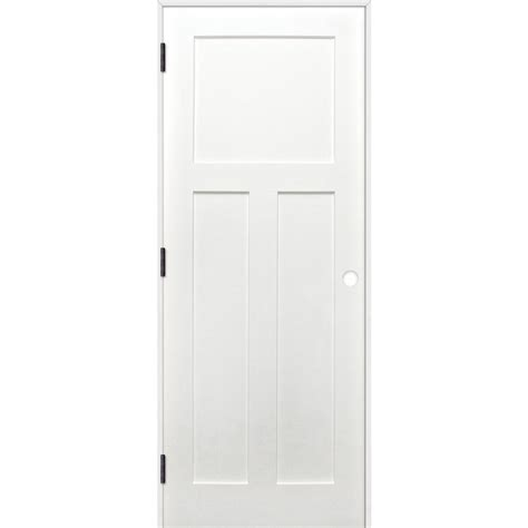 3 Panel Solid Wood Interior Doors Pacific Entries 30 In X 80 In Craftsman Unfinished 3 Panel Solid Wood Primed Pine