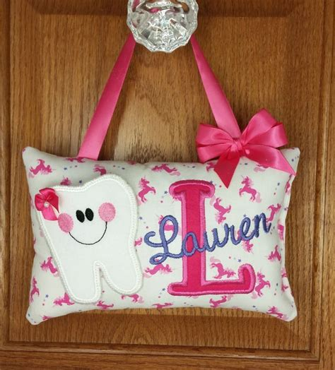 Handmade Tooth Pillows - tooth pillow for unicorn pattern tooth pillow