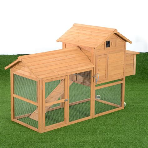 Backyard Chicken Coops Review by Aosom Deluxe Portable Backyard Chicken Coop With Nesting