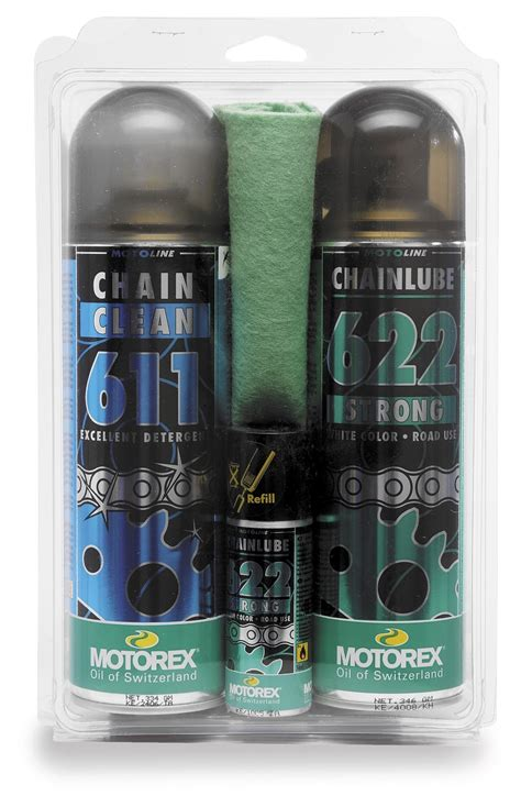 Motorex Street Bike Chain Clean & Lube Kit   RevZilla