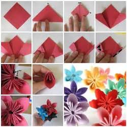 How To Fold Paper Flowers - how to fold diy kusudama paper craft flower