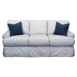 Striped Sofa Slipcover Blue Ticking Stripe Sofa Livingroom Pinterest