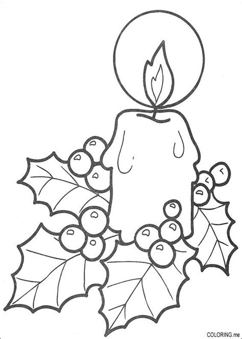 free coloring pages of christmas candle