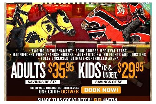 medieval times chicago coupons 2018