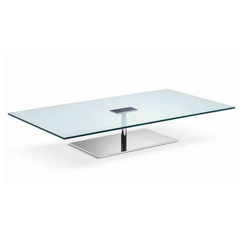 Metal Glass Coffee Tables Farniente Rectangular Glass And Metal Coffee Table By Tonelli Klarity Glass Furniture