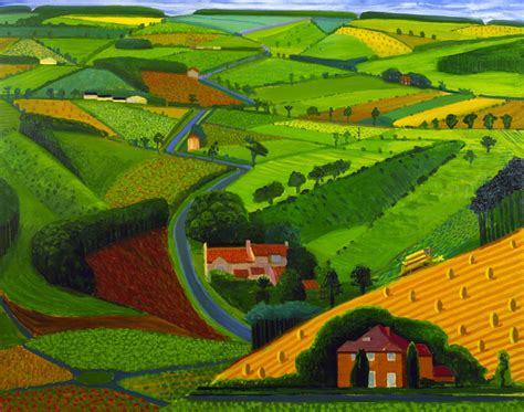 Landscape Artists Work By David Hockney Modern Design By Moderndesign Org