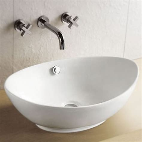 costa oval counter top basin at