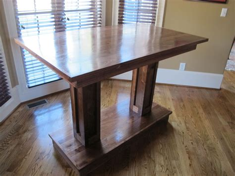 pub table solid wood buy a handmade solid wood pub table made to order from