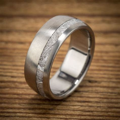 meteorite wedding band by spexton unique and stunning men