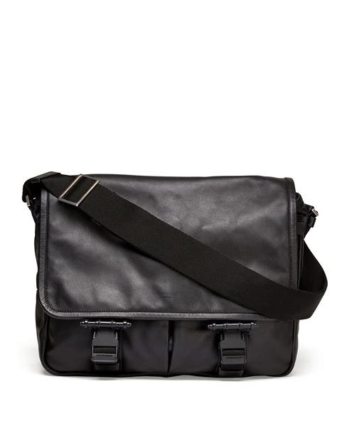 Givency Mesenggery lyst givenchy obsedia leather messenger bag in black for