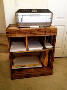 laptop and printer desk 25 best ideas about printer stand on pallet