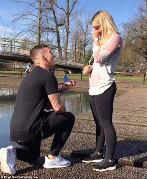 paige vanzant wedding paige vanzant poses with fiance following engagement