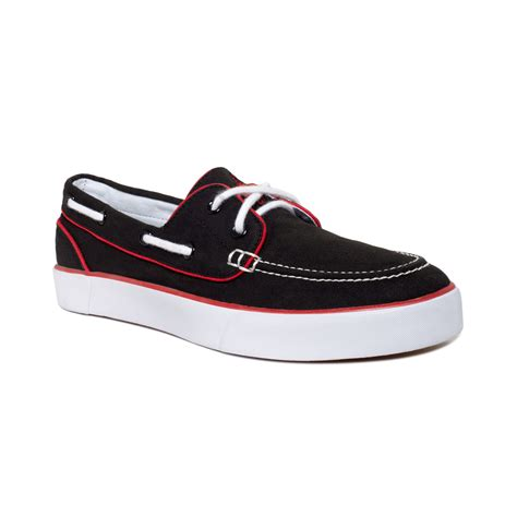 polo shoes for ralph lander p boat shoes in black for polo