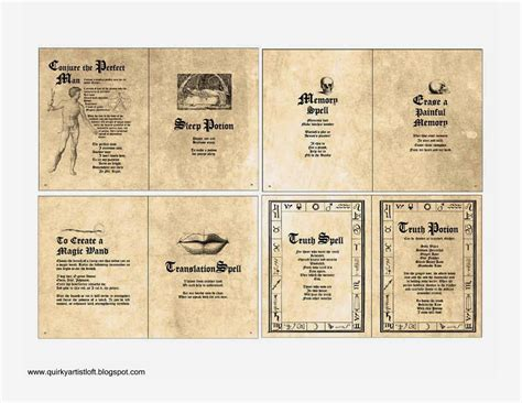 book pages to print artist loft free printable doll spell book