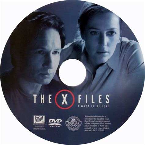 Vcd Original The X Files And I Want To Believe the x files i want to believe cd custom dvd labels the x files i want to believe cd 001