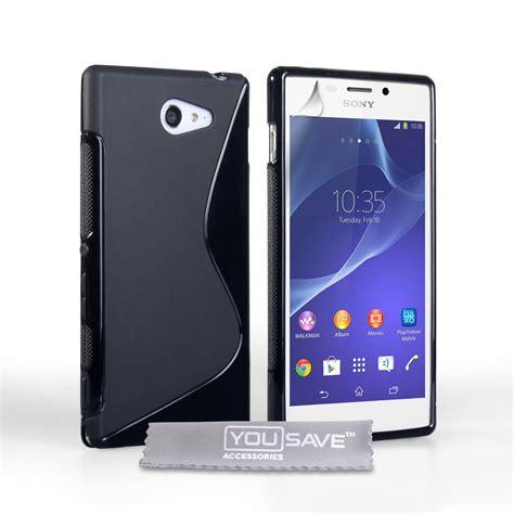 mobile m2 caseflex sony xperia m2 silicone gel s line black