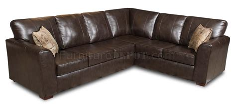 Brown Bentley Bonded Leather Modern Sectional Sofa W Options