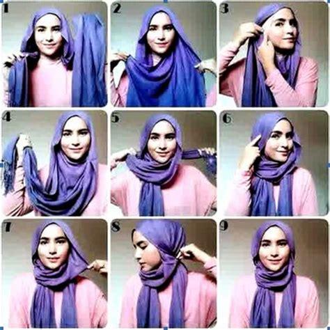 Foto Cara Memakai tips cara memakai jilbab selendang kreasi terbaru kumpulan contoh kreasi modern terbaru 2016