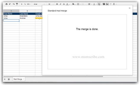 how to create mail merge in gmail with google docs momscribe