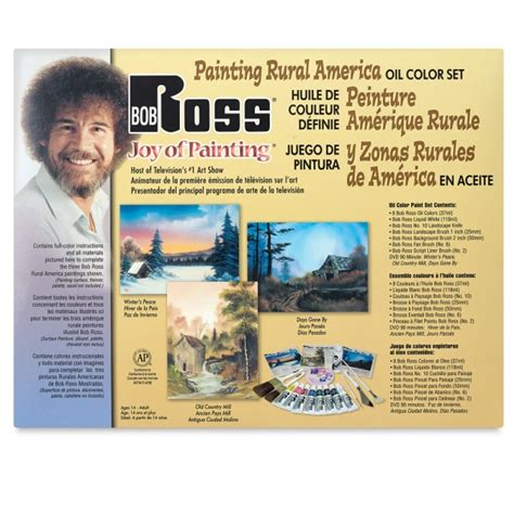 bob ross painting set bob ross painting rural america set blick materials