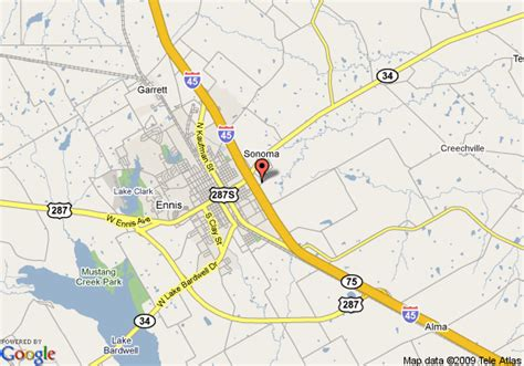 map of ennis texas map of comfort suites ennis ennis