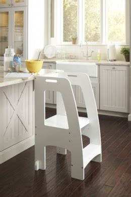 One Step Ahead Step Stool by Guidecraft Step Up Kitchen Helper White By Guidecrafts