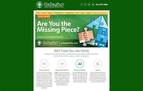 gallagher home health services website design ocreations